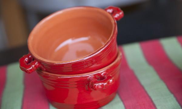 handmade italian ceramic mini casseroles