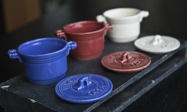 tuscan style ceramic enamel mini casseroles