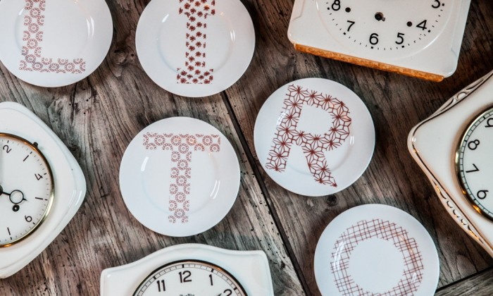 alphabet porcelain small plates