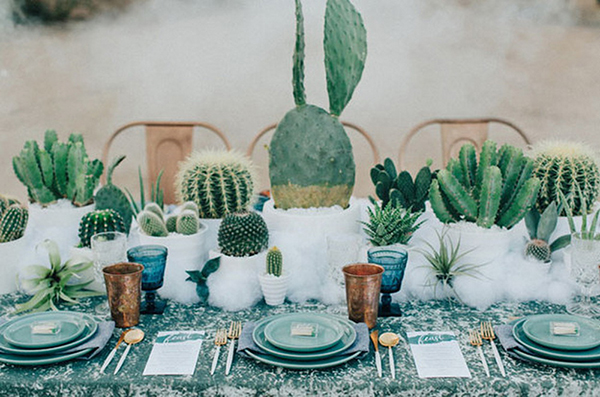 cactus trend on tablesetting and dining