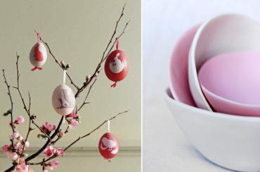 Il centrotavola di Pasqua e come decorare le uova con i colori naturali