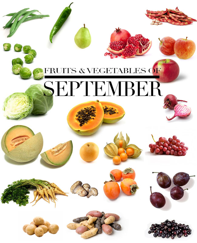 September fruits and vegetables