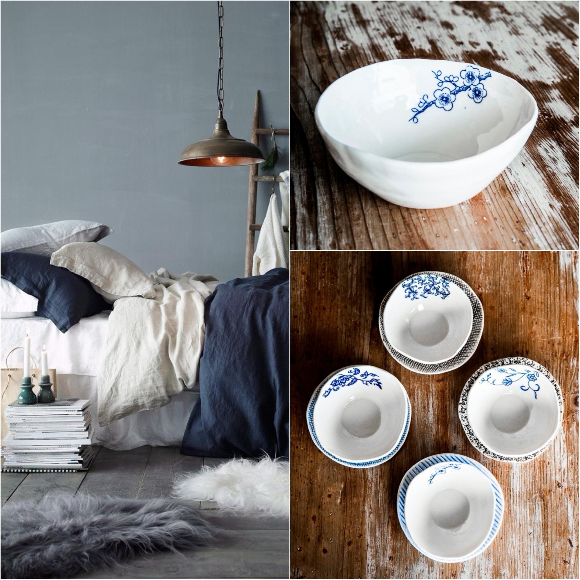 blue porcelain bowls