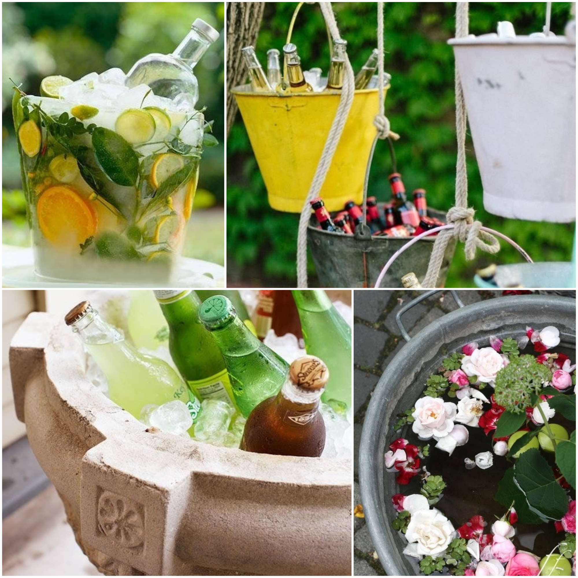 outdoor party drinks