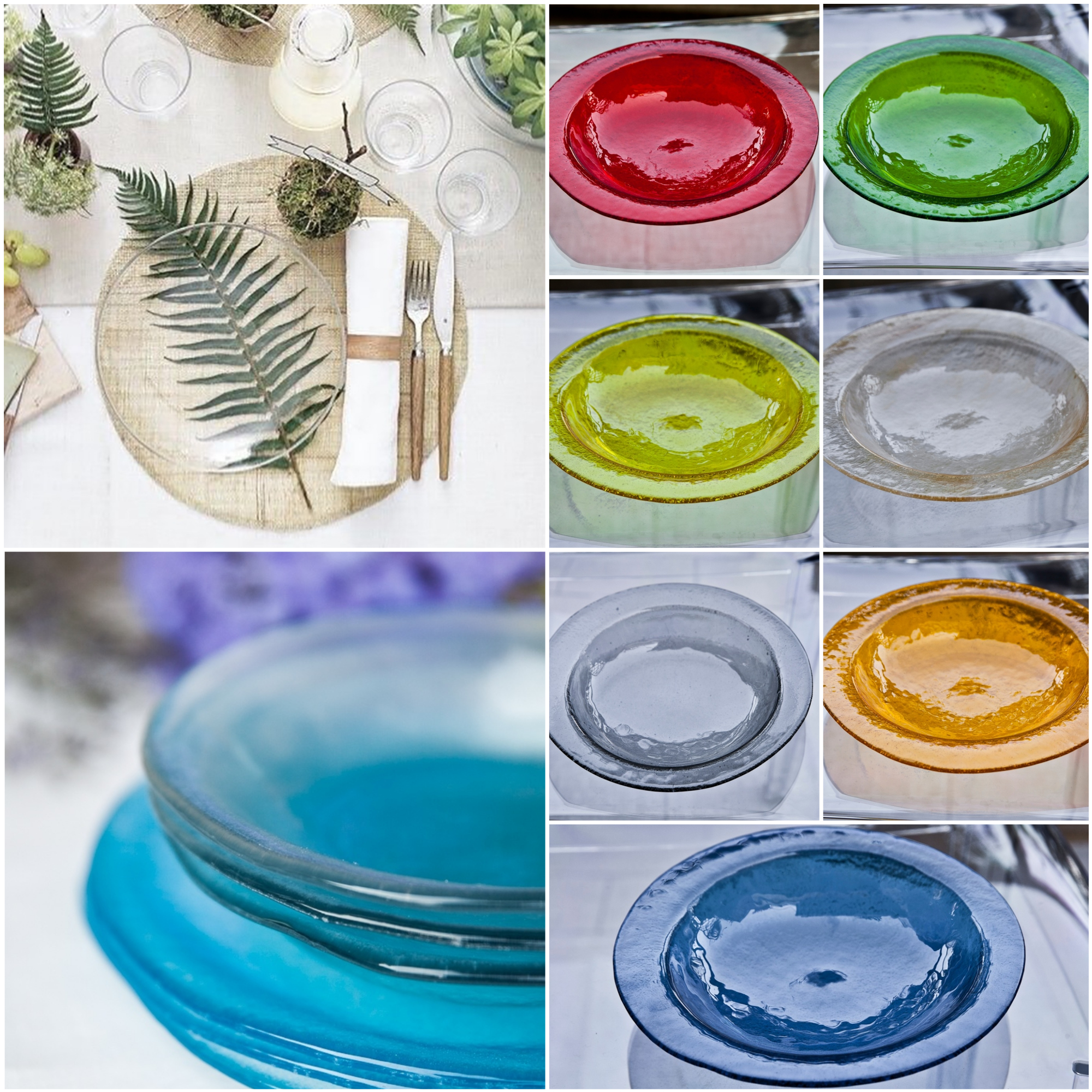 outdoor party glass plates