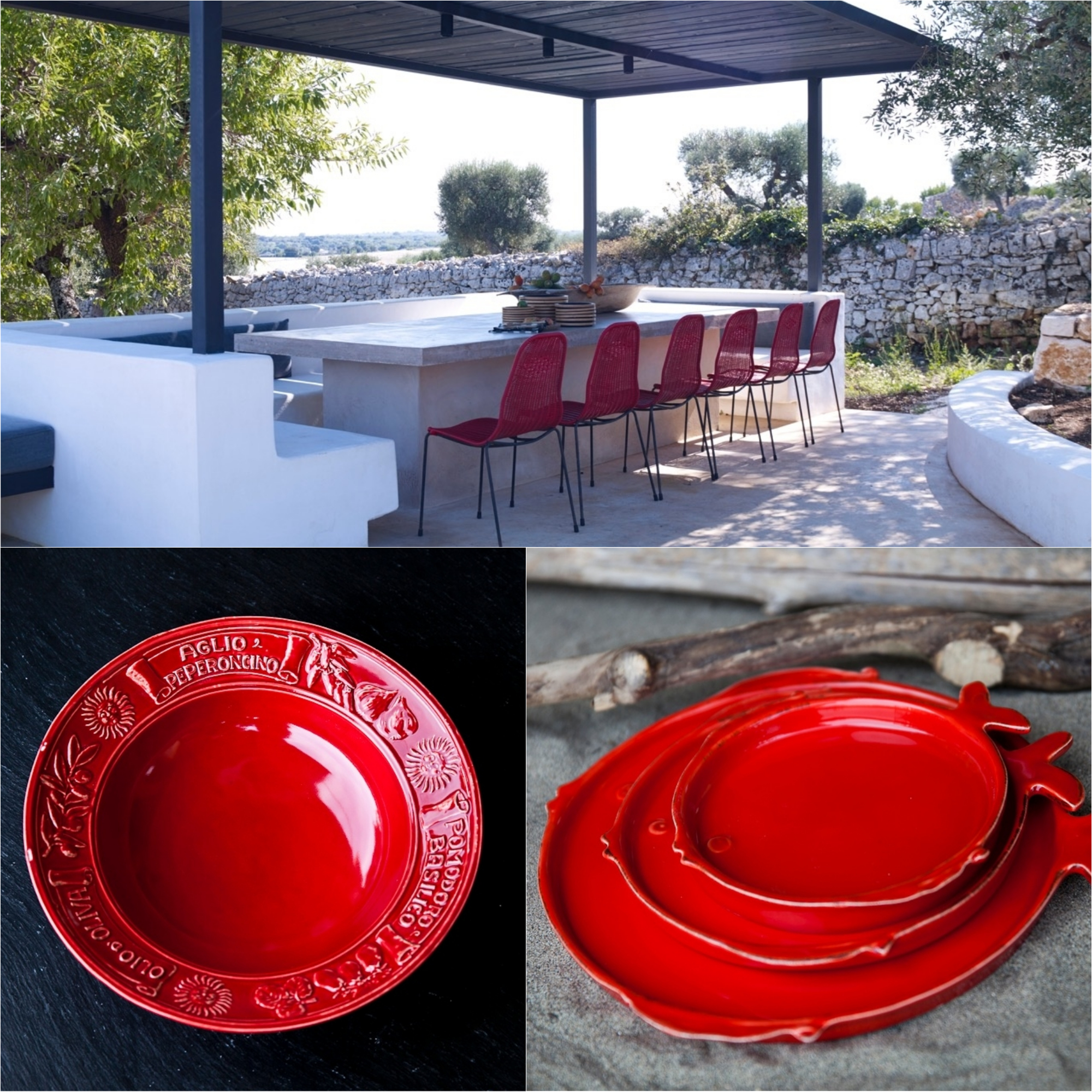 outdoor party serving bowl