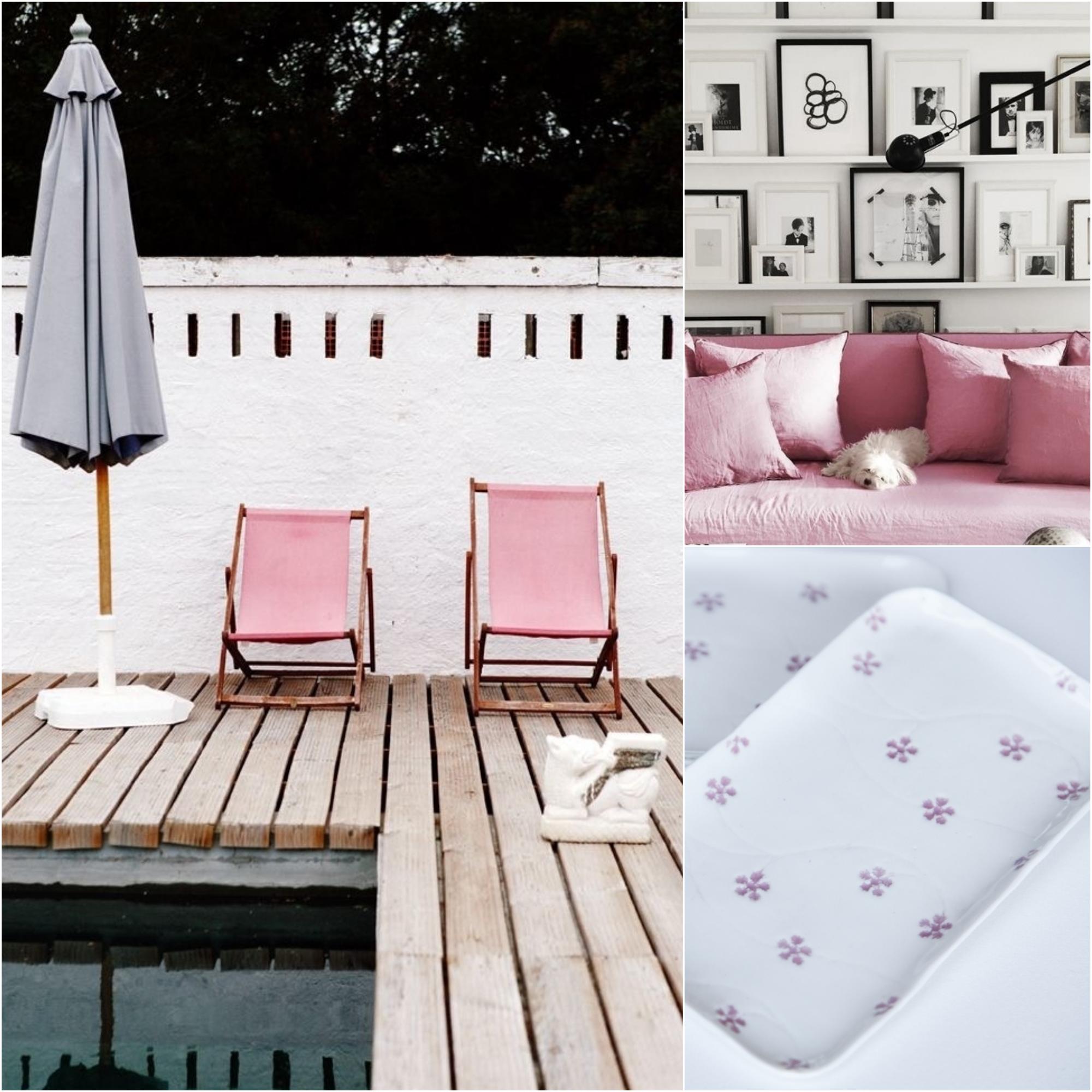 pink modern vintage